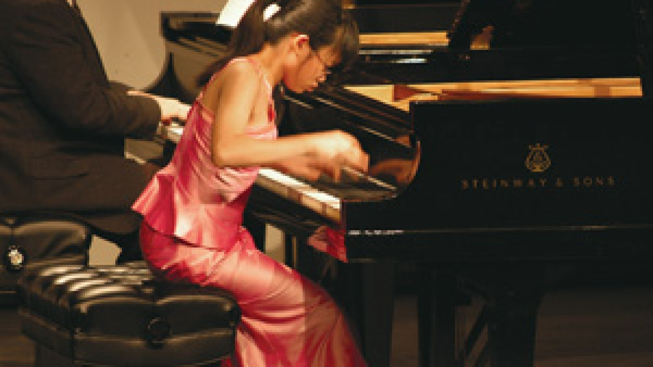 Abigain Sin took first place in the concerto competition at the 2005 Virginia Waring International Piano Competition. She was 12 at the time. Photo: Loretta Vlach