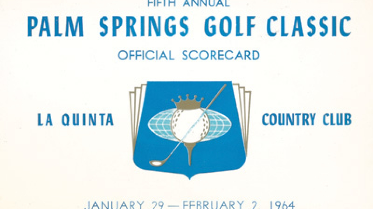 Scorecard for the Palm Springs Golf Classic in 1964.