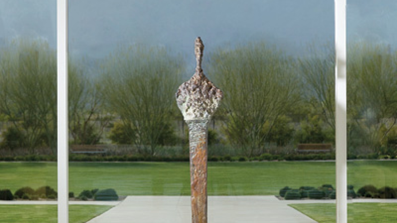 Bust of Diego on Stele III, 1958, by Alberto Giacometti. Bronze, edition 3/6, lifetime cast.