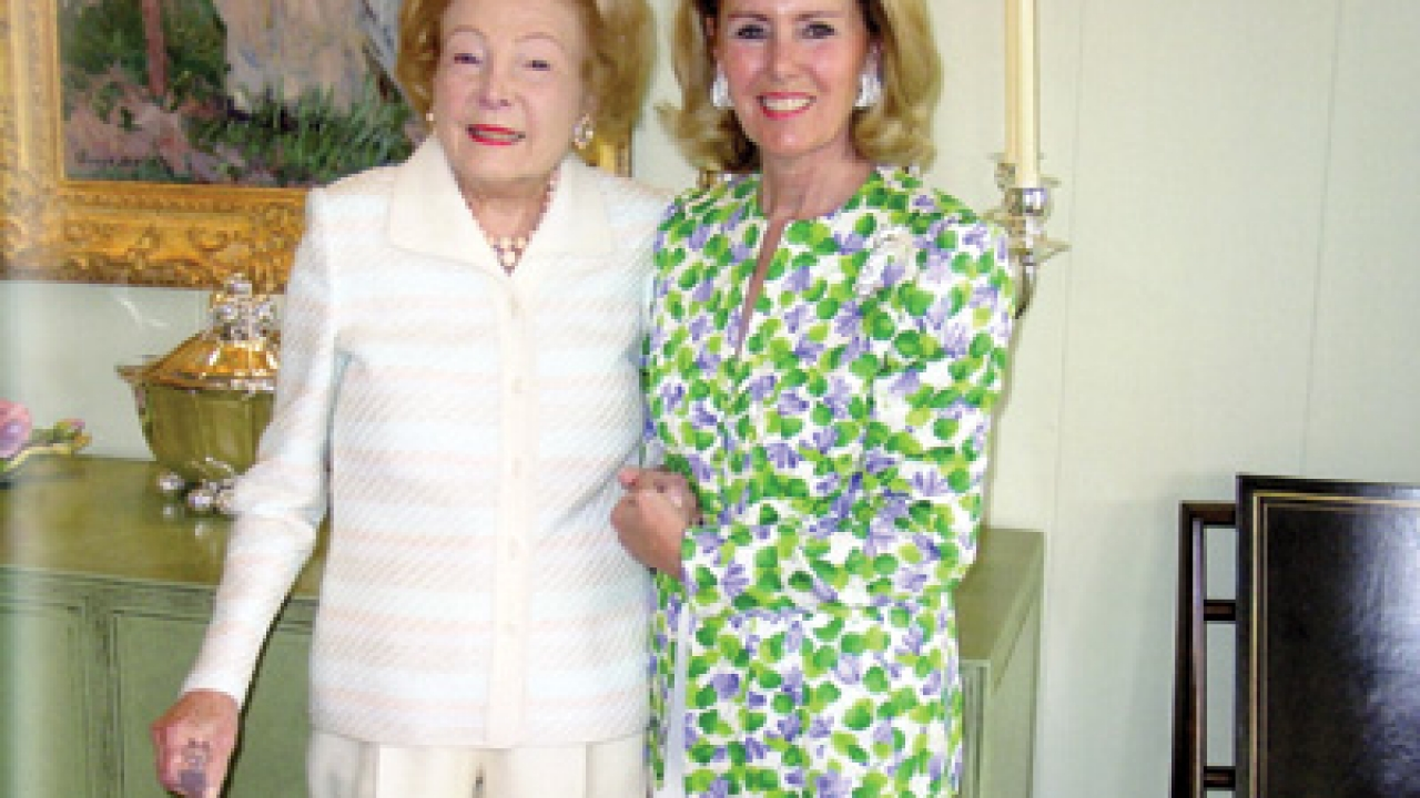Leonore Annenberg and Marcia French celebrated their shared birthday on Feb. 20