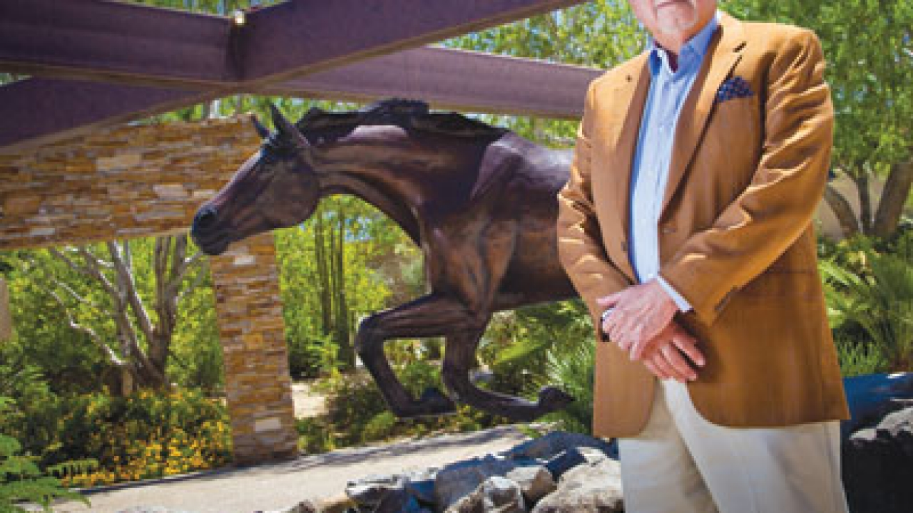 A copy of Veryl Goodnight's The Day the Wall Came Down (1997) reflects R.D. Hubbard's interest in horses. One of the two original castings is in the George Bush Presidential Library in Texas; the other was presented as a gift from the United States to Germany as a monument to freedom.