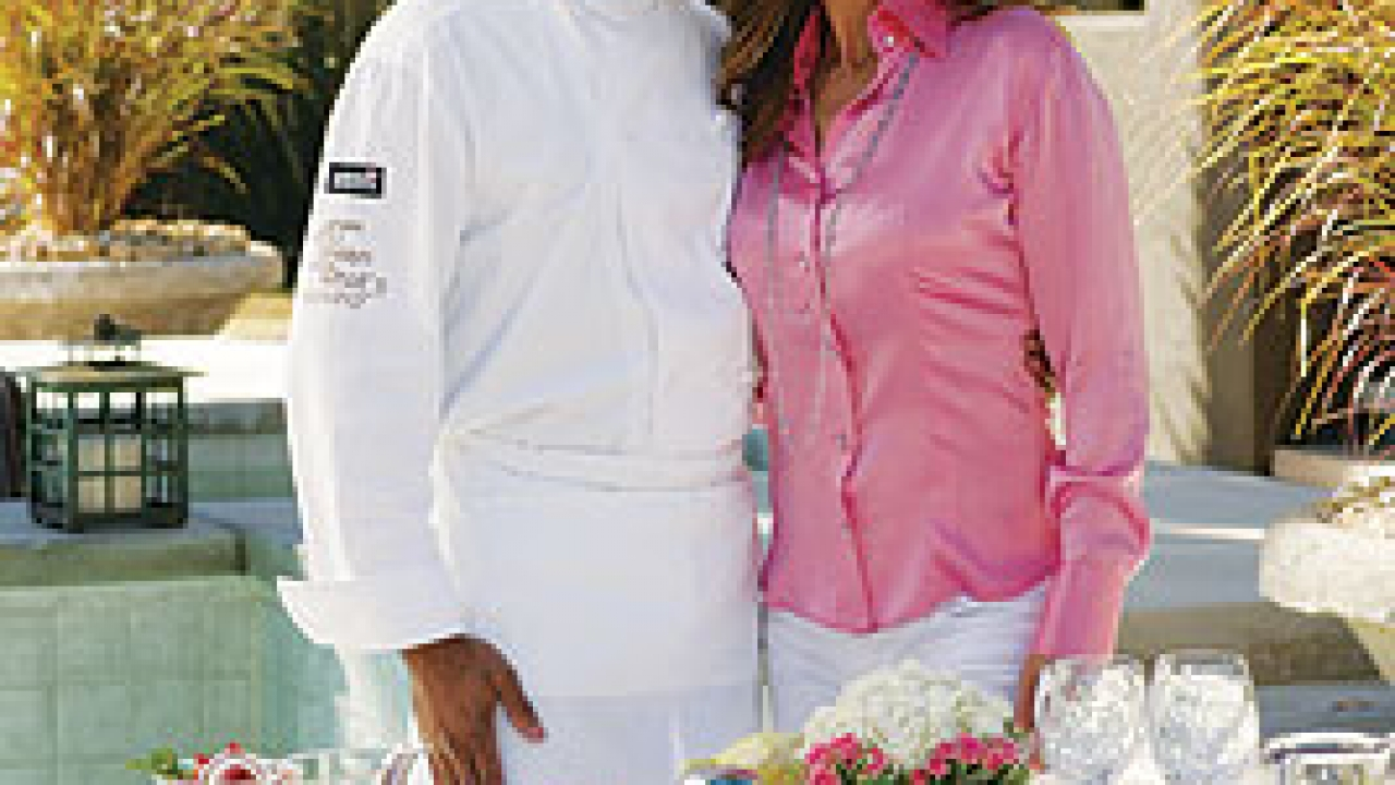 Chef Andre Carthen and Kathy Ireland