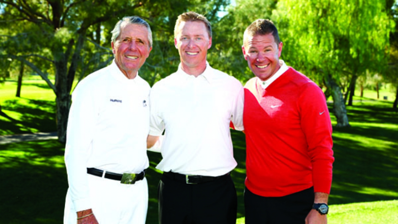 Gary Player, David Woods, and Sean Foley