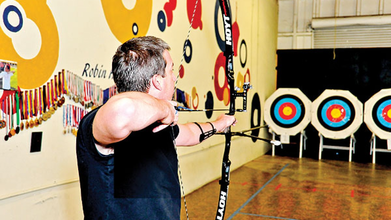 Teach your children how to be ambidextrous at Robin Hood Archery.