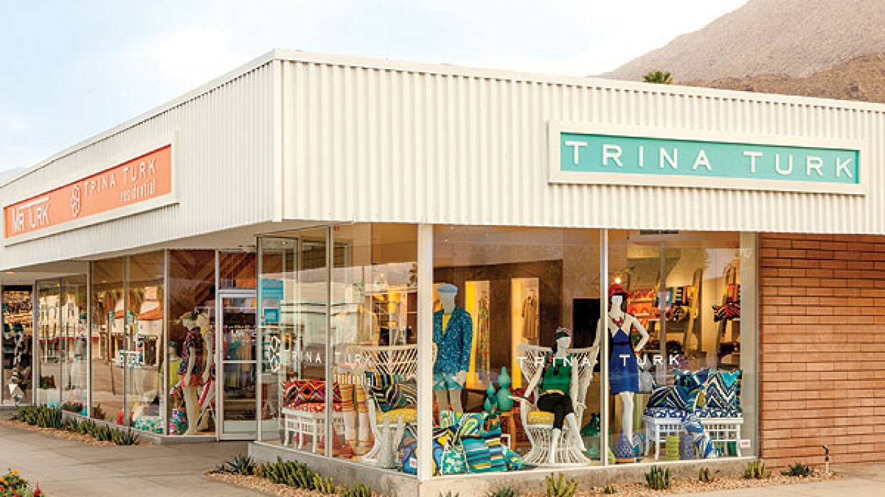 Trina Turk boutique in Uptown Palm Springs.