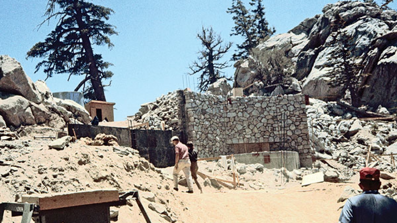 Construction of the Mountain Station, circa 1962.
