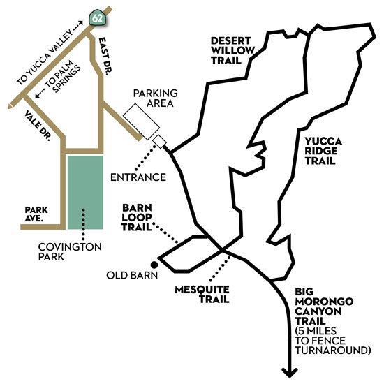 Big Morongo Canyon Preserve Trail Map