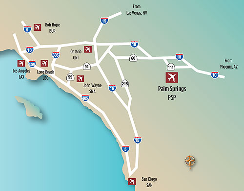 Palm Springs California Historic Inns, Bed and Breakfasts, and Hotels