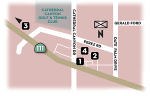 Cathedral City Map