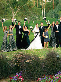 Palm Springs Weddings - Colors - Black and White